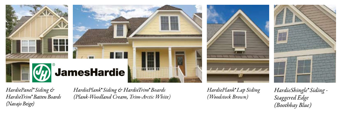 exterior siding and trim products from james hardie and wilson home restorations